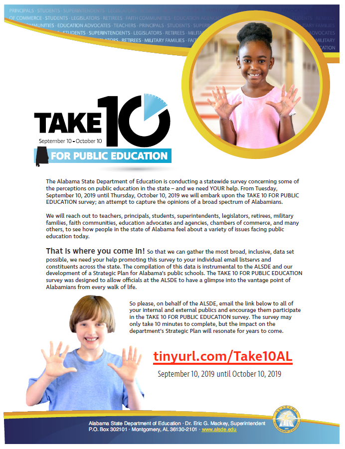 TAKE 10 Survey for Public Education