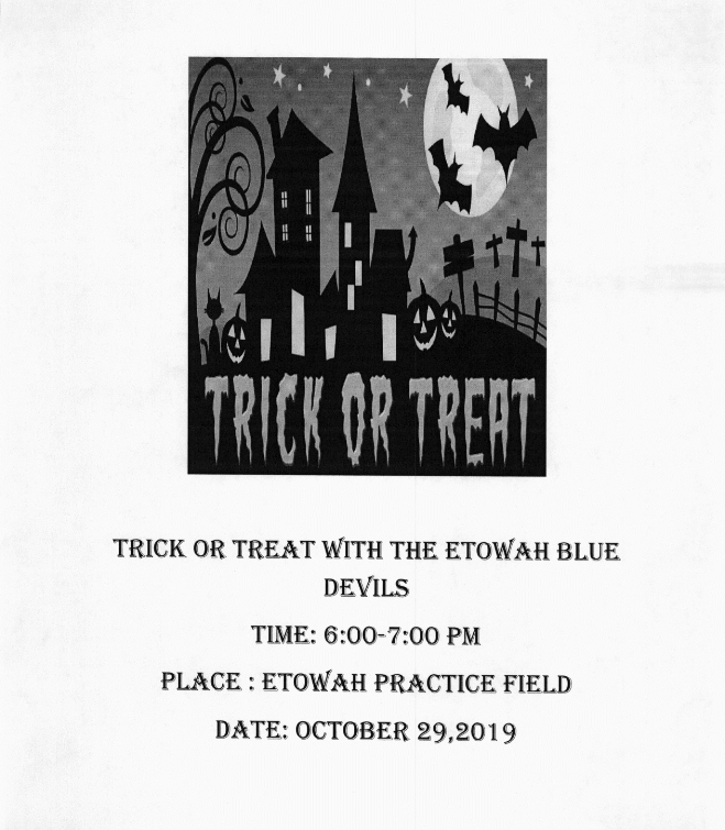 Trick or Treat the Etowah Blue Devils
