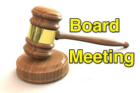 Board Meeting Location Announcement