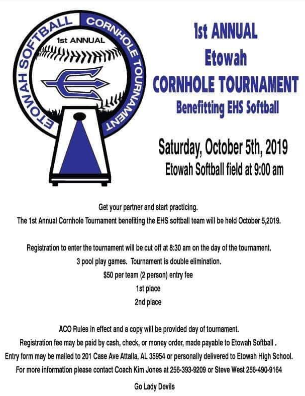 Etowah Softball Cornhole Tournament