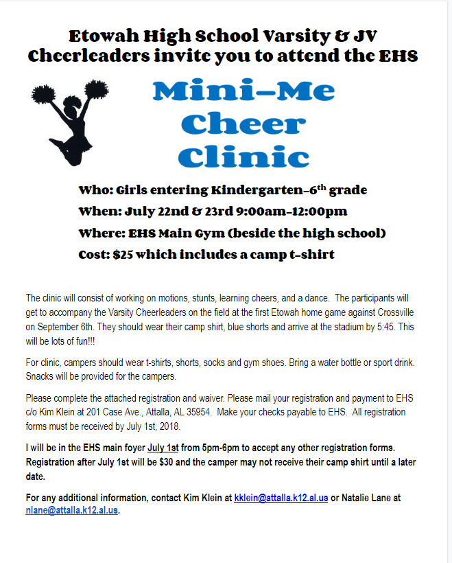 Mini-Me Cheer Clinic