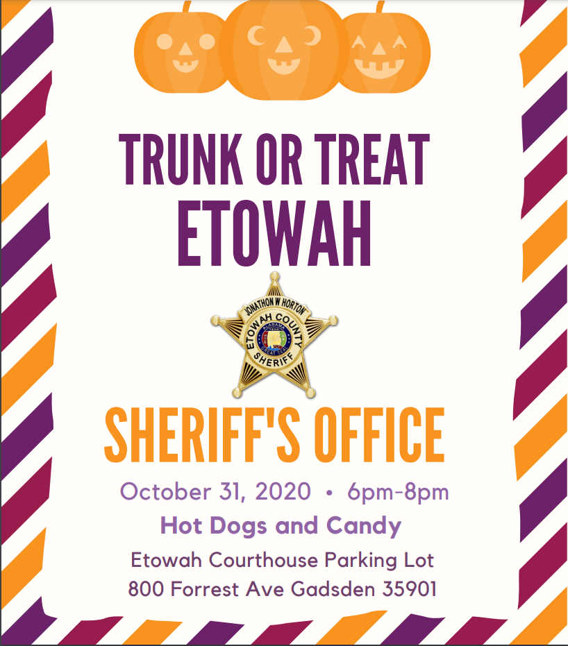 Trick or Treat Etowah County Sheriff